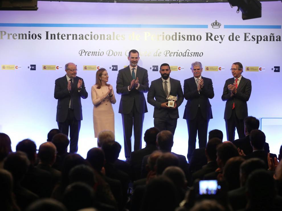Ceremonia de entrega de los Premios Internacionales de Periodismo Rey de España y el Premio Don Quijote.