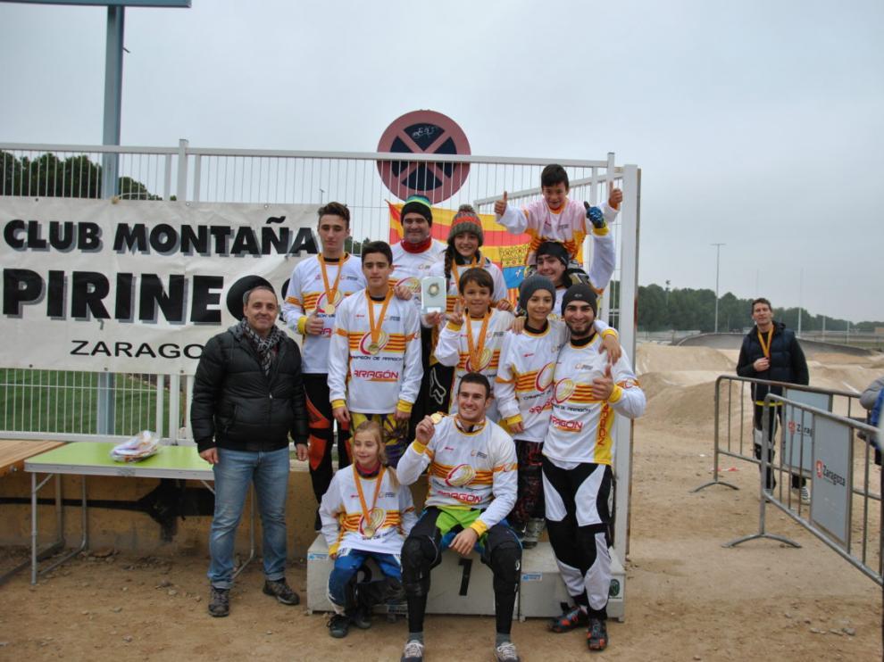 Varios de los corredores destacados en el Campeonato de Aragón.