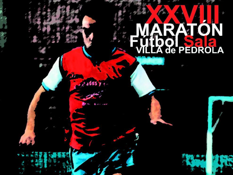 Fútbol Sala. Cartel Maratón de Pedrola.