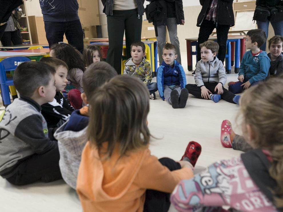 Aula de infantil en el colegio Arcosur de Zaragoza, que ya ha agotado sus 100 vacantes.