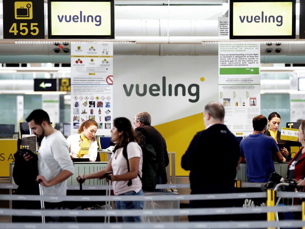 El 86 % de los pasajeros que volaban este jueves con Vueling no se han visto afectados.