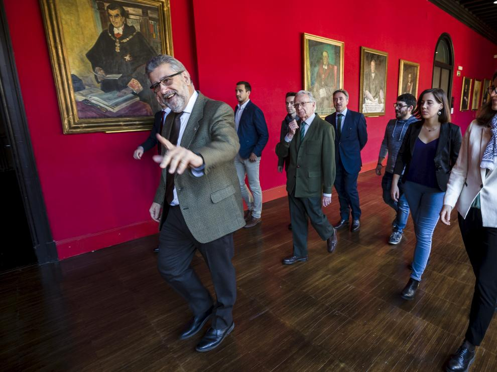 El rector José Antonio Mayoral en una reciente entrega de premios a estudiantes de la Universidad de Zaragoza
