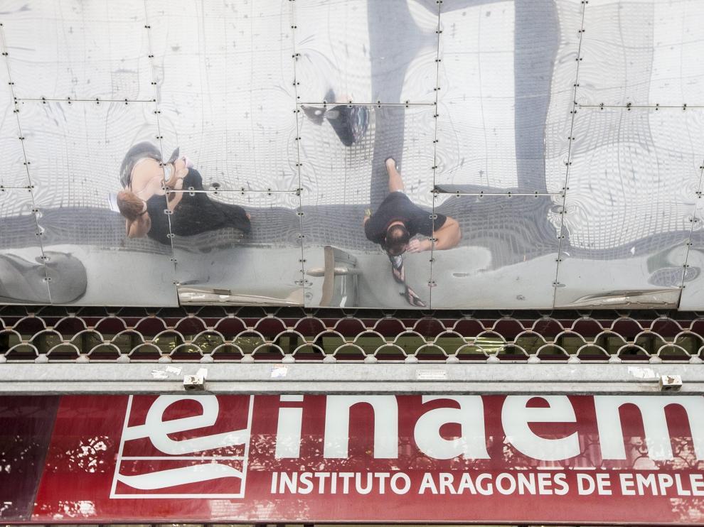 Una oficina del INAEM en Zaragoza.