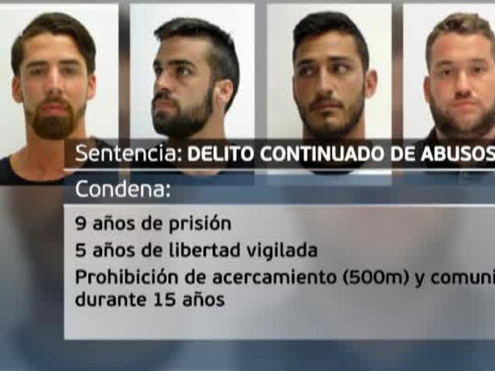 Condenados a nueve años de prisión los cinco acusados de 'La Manada'