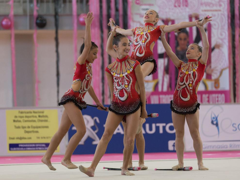 Gimnasia rítmica. Trofeo Nacional de Conjuntos de Utebo