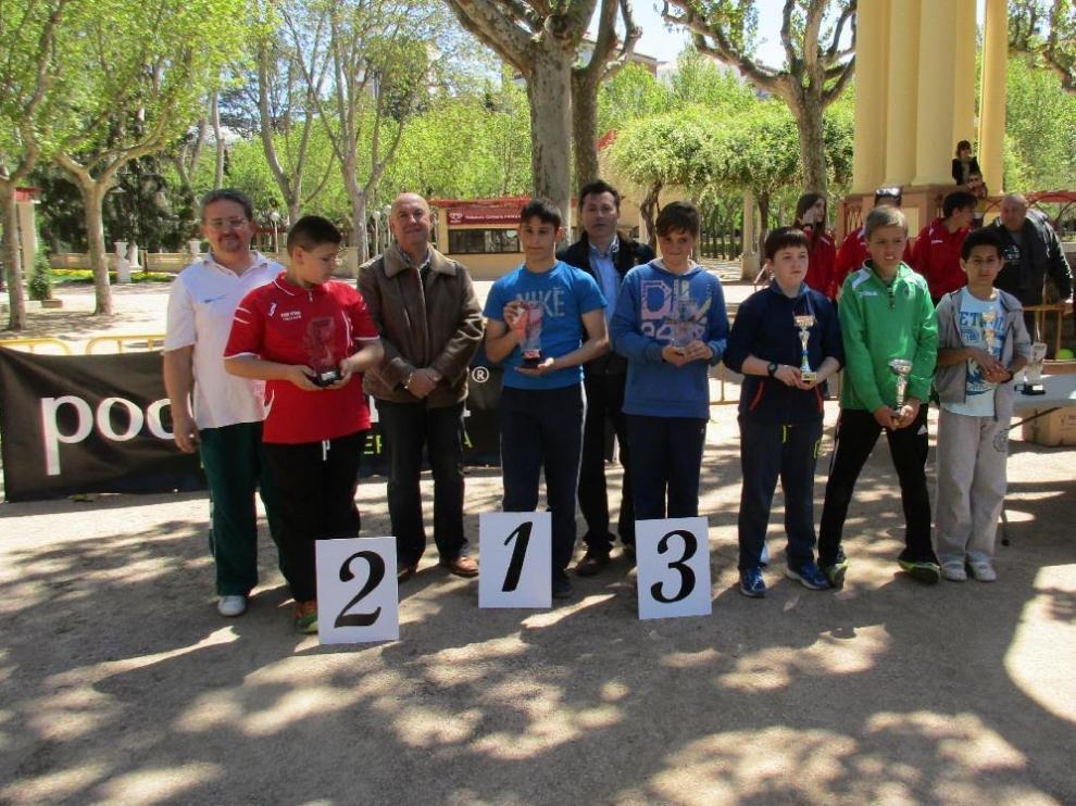Campeones en la categoría alevín masculina.