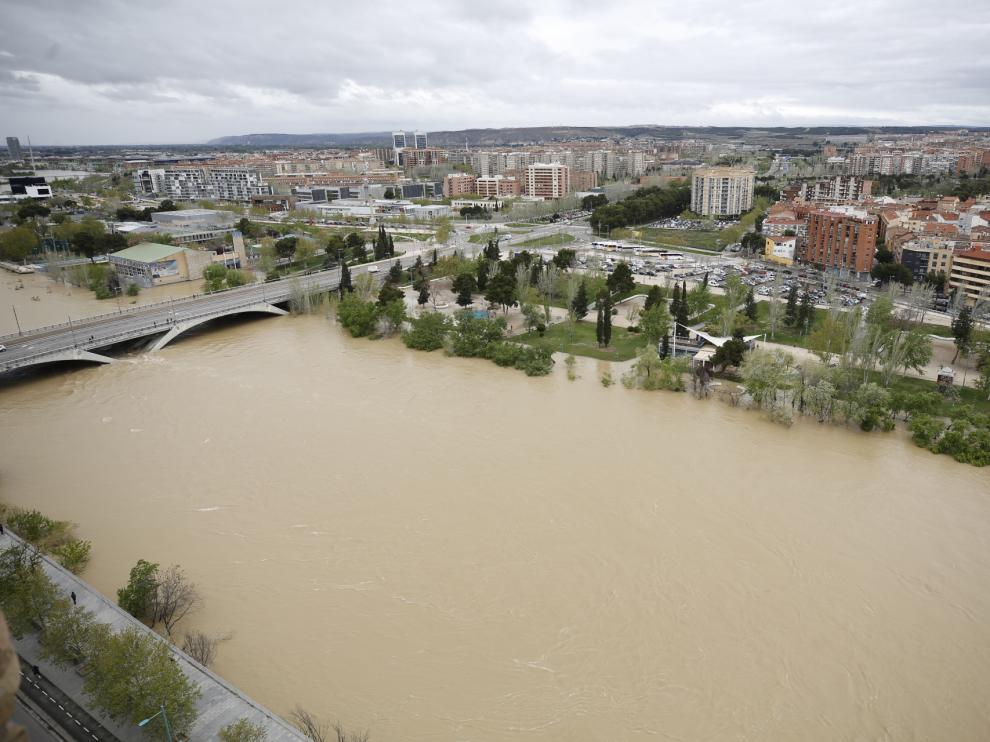 La crecida del Ebro el 16 de abril de 2018