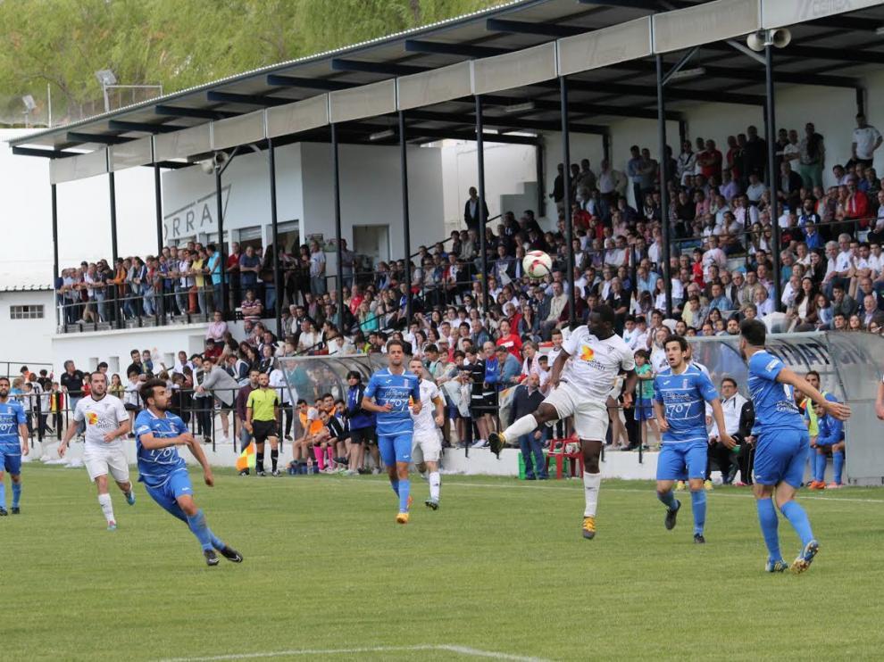 Partido de vuelta de la primera eliminatoria de 'play off' de ascenso a 2ªB entre el Andorra y el Almansa