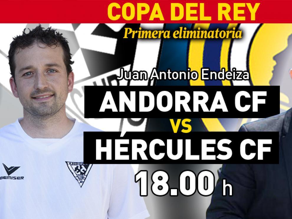 El Andorra de David Lázaro y el Hércules de Luis García Tevenet se enfrentan en la primera eliminatoria de la Copa del Rey
