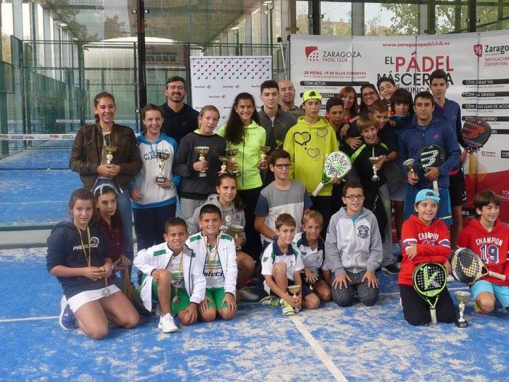 Algunos participantes de la décima prueba del Circuito Aragonés de Menores 2016