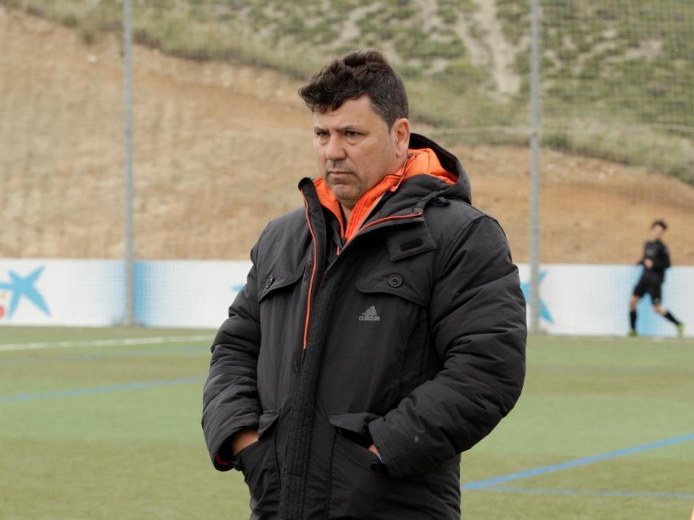 El entrenador del Juventud, Toño Blasco.
