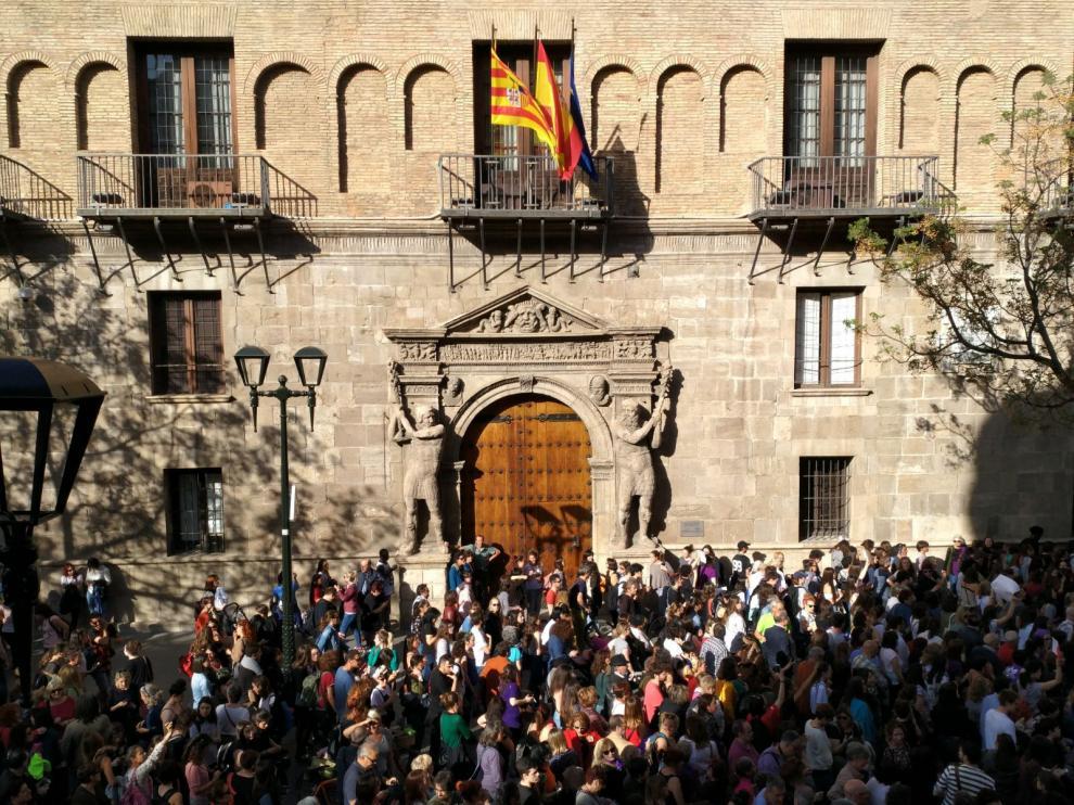 Concentración en Zaragoza por la sentencia de La Manada