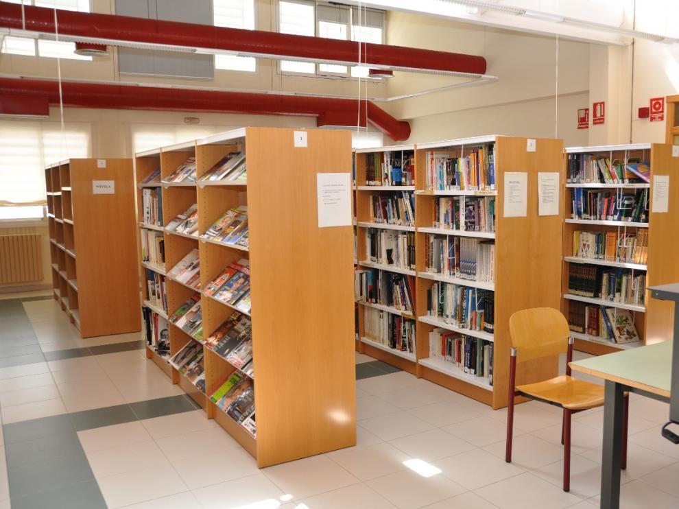 La biblioteca municipal de Ejea de los Caballeros.