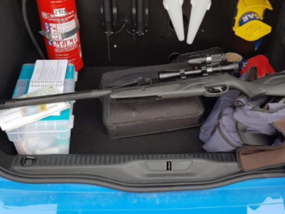 Imagen del arma intervenida.