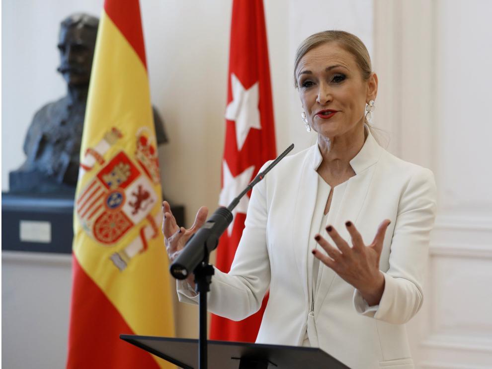 Cristina Cifuentes, ex presidenta de Madrid.