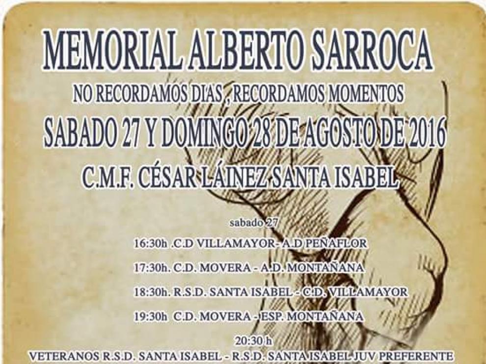 Cartel del Memorial Alberto Sarroca