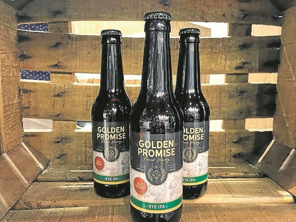 Imagen de archivo de la cerveza Golden Promise.