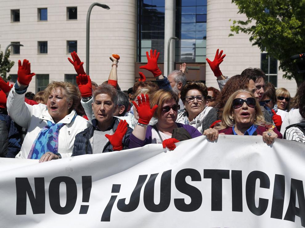 Manifestación en contra de la sentencia contra La Manada