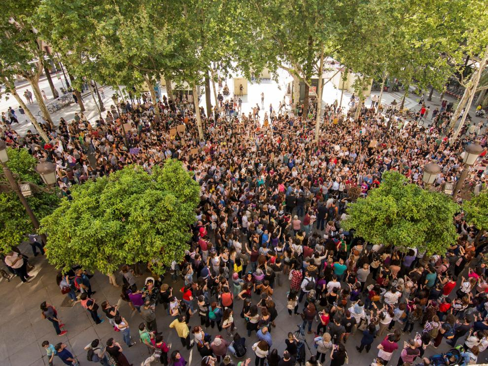 Manifestaciones en las calles y plazas de toda España contra el juicio de La Manada