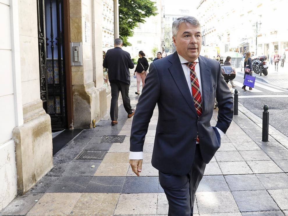 Agustín Martínez, abogado de La Manada, este viernes en Zaragoza