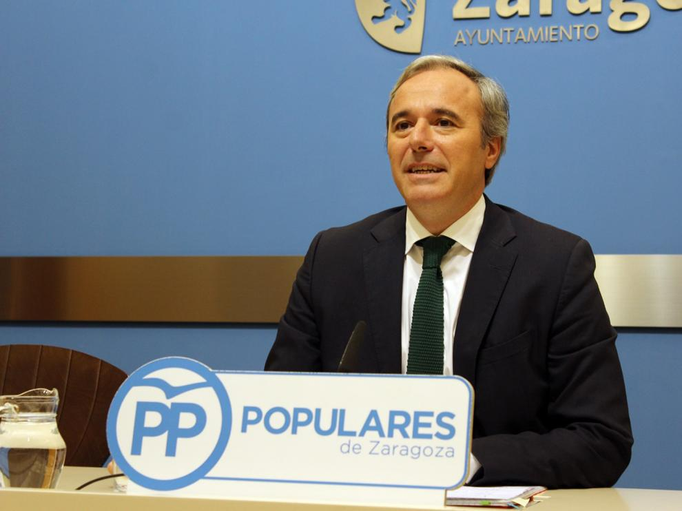 Jorge Azcón, portavoz del PP en el Ayuntamiento de Zaragoza.