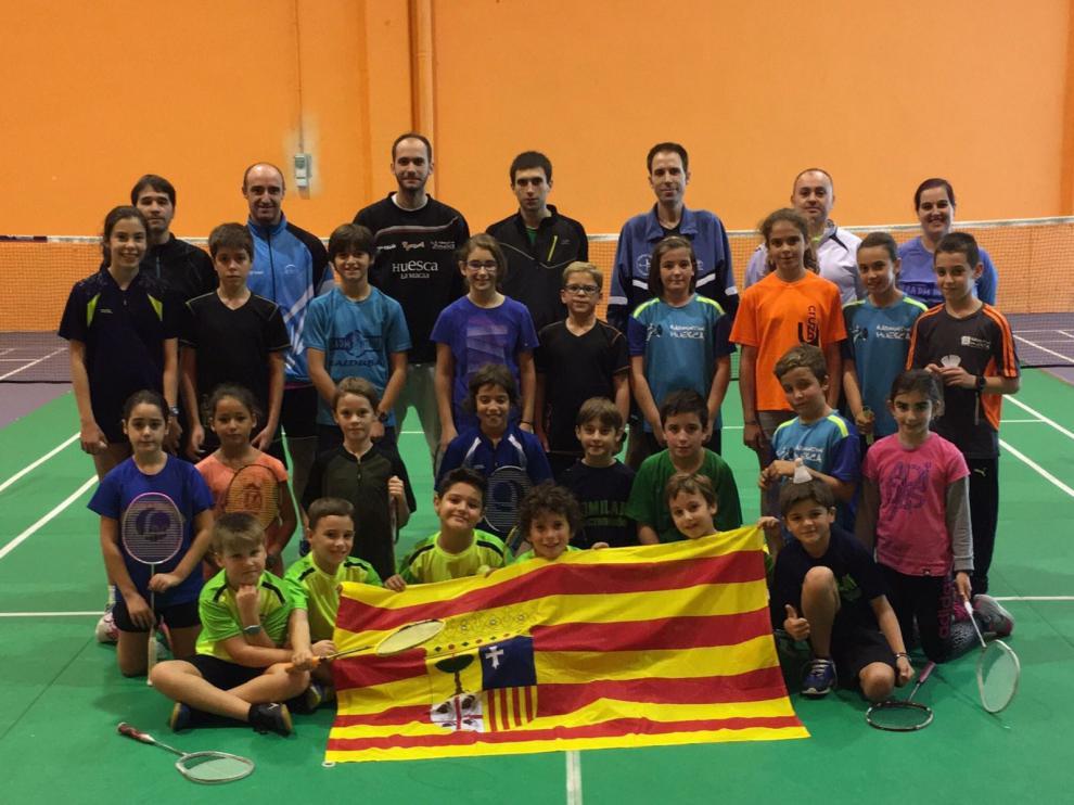 Participantes en el el Máster Nacional de Jóvenes de Alfajarín.