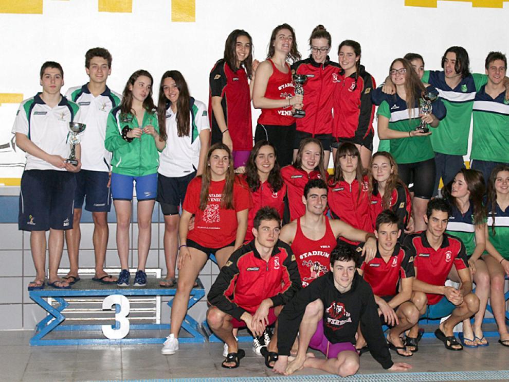 Podio júnior del Campeonato de Aragón por Edades 2017