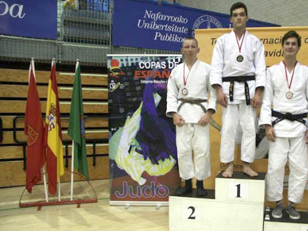 Podio de la Copa de España Cadete -81 kg 2016