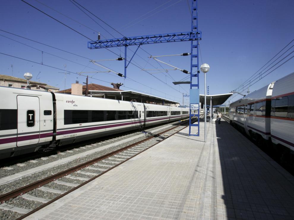 Imagen de la estación de Tardienta.