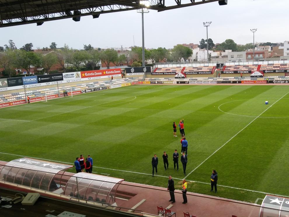 El Camp Nou de Tarragona, antes del partido.