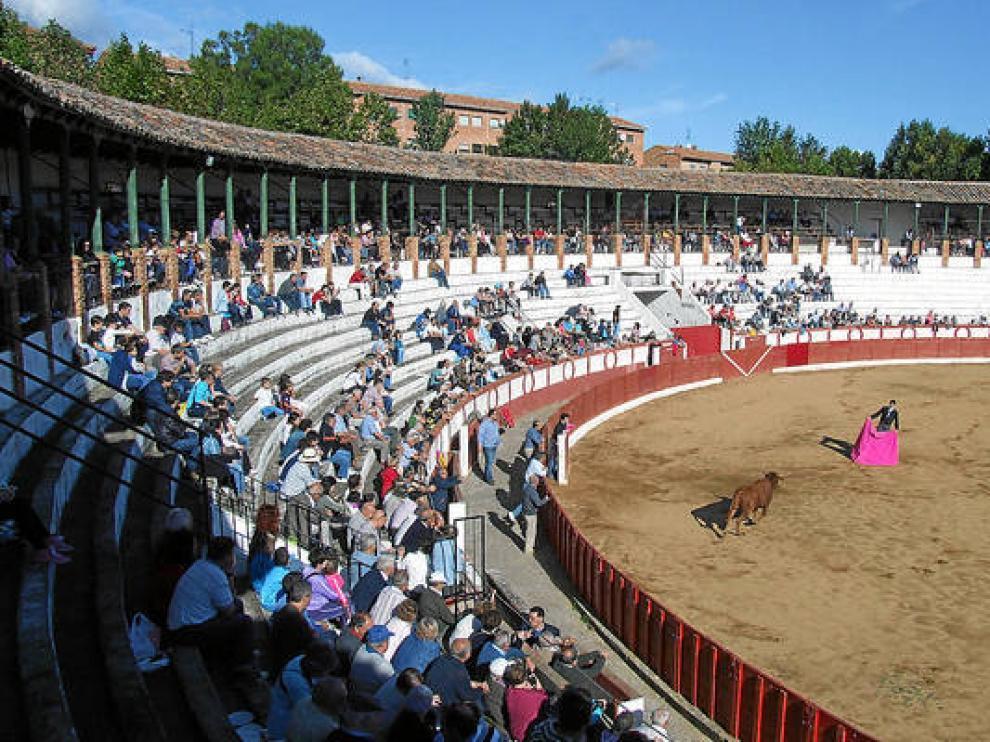 Uno de los últimos festejos celebrados en la plaza de toros de Tarazona.