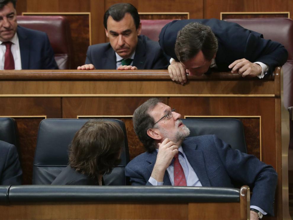Rajoy, en el pleno del Congreso de este jueves.
