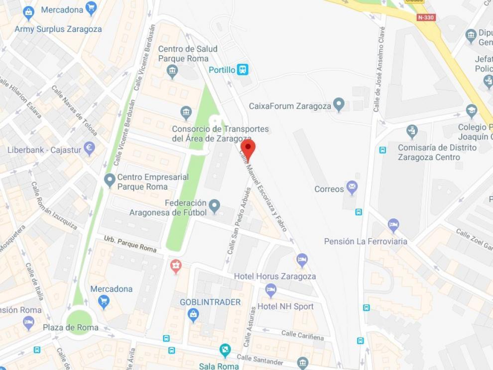 El accidente se ha producido en la calle de Escoriaza y Fabro.
