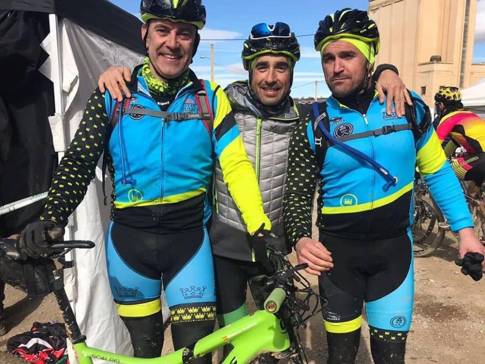 Los zaragozanos Roberto Arellano, Jorge Chico y Antonio Layús.