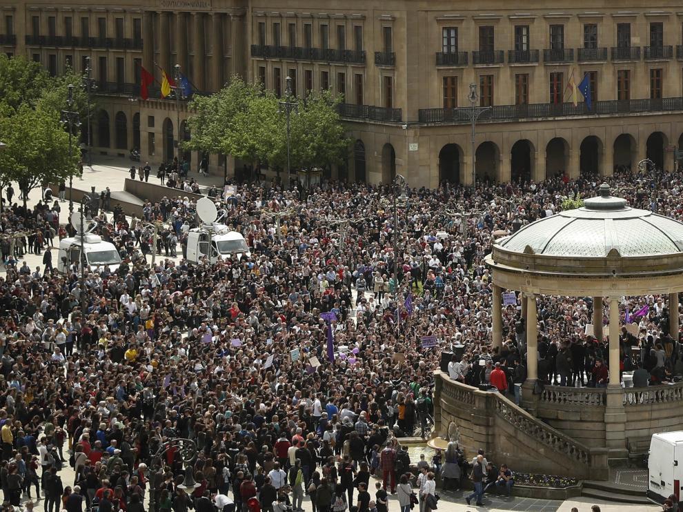 Manifestación en Pamplona contra la sentencia
