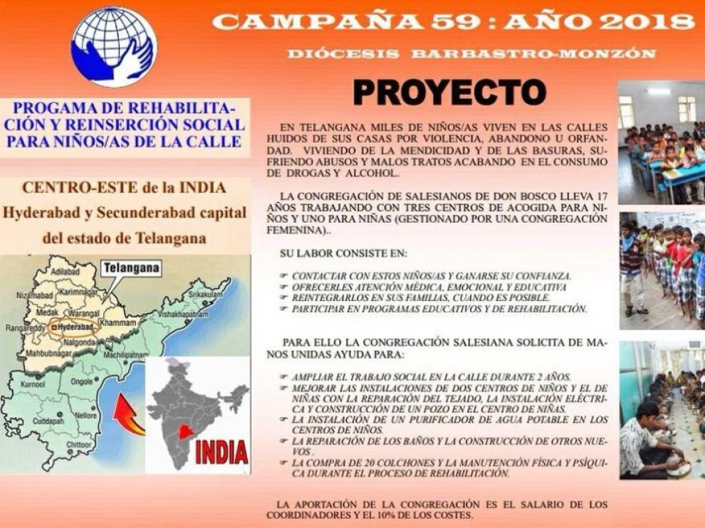 Proyecto en el que colabora la Diócesis de Barbastro en la India.