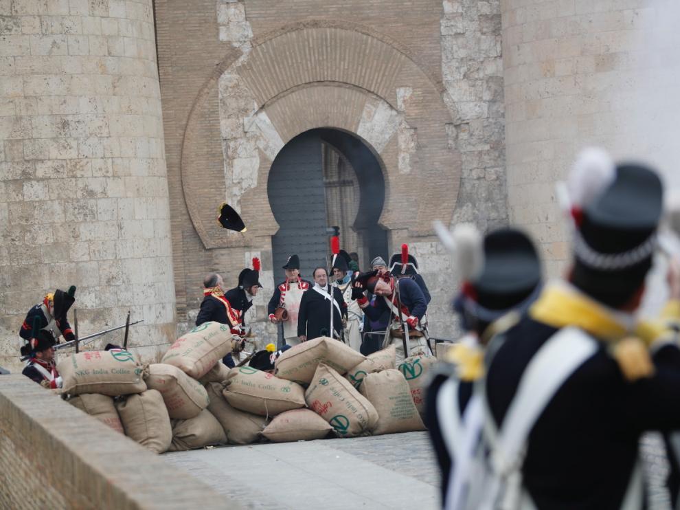 La Aljafería, último escenario de la Recreación Histórica de los Sitios de Zaragoza