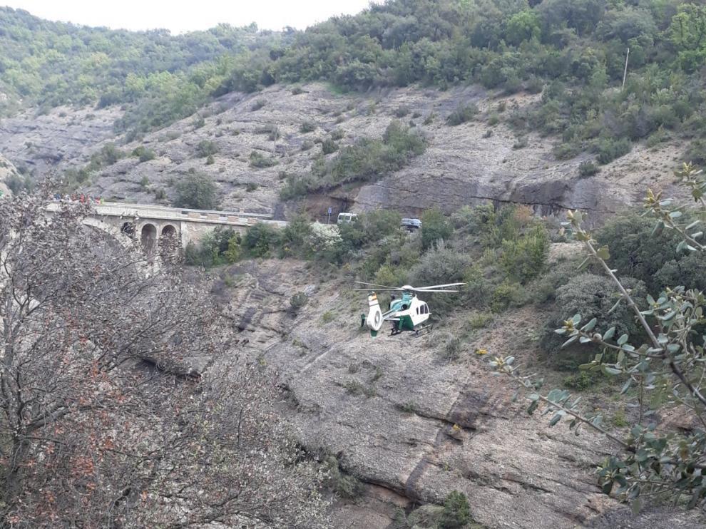 Imagen de uno de los rescate realizados este sábado por la Guardia Civil