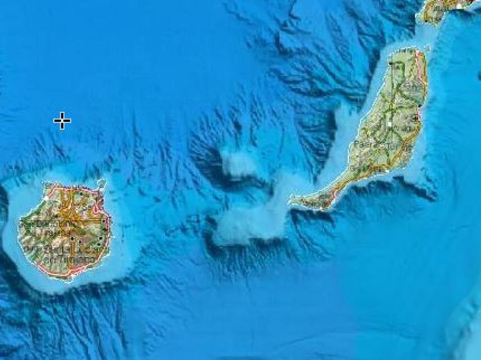 El terremoto se ha producido entre Gran Canaria y Fuerteventura