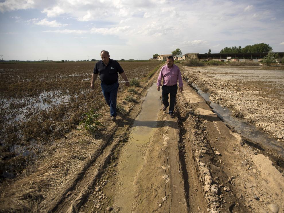 Used (izquierda) y Escanero, en el camino que va a sus explotaciones