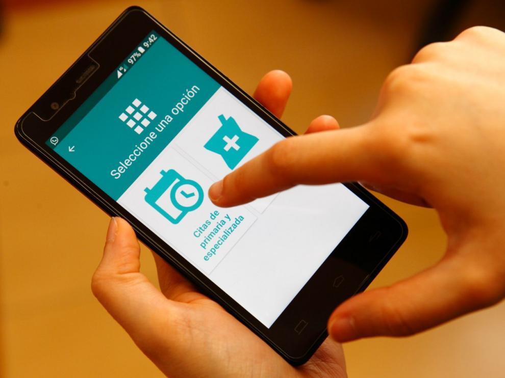 Imagen de archivo de la aplicación de Salud Informa.