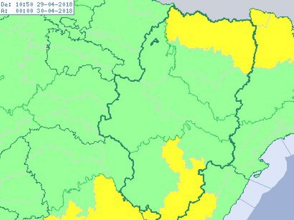 Alerta por viento en varios puntos de Aragón.