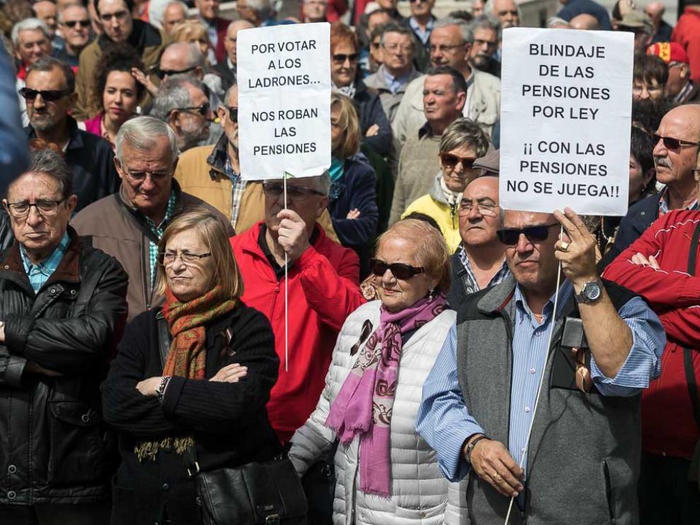 Protesta por las pensiones