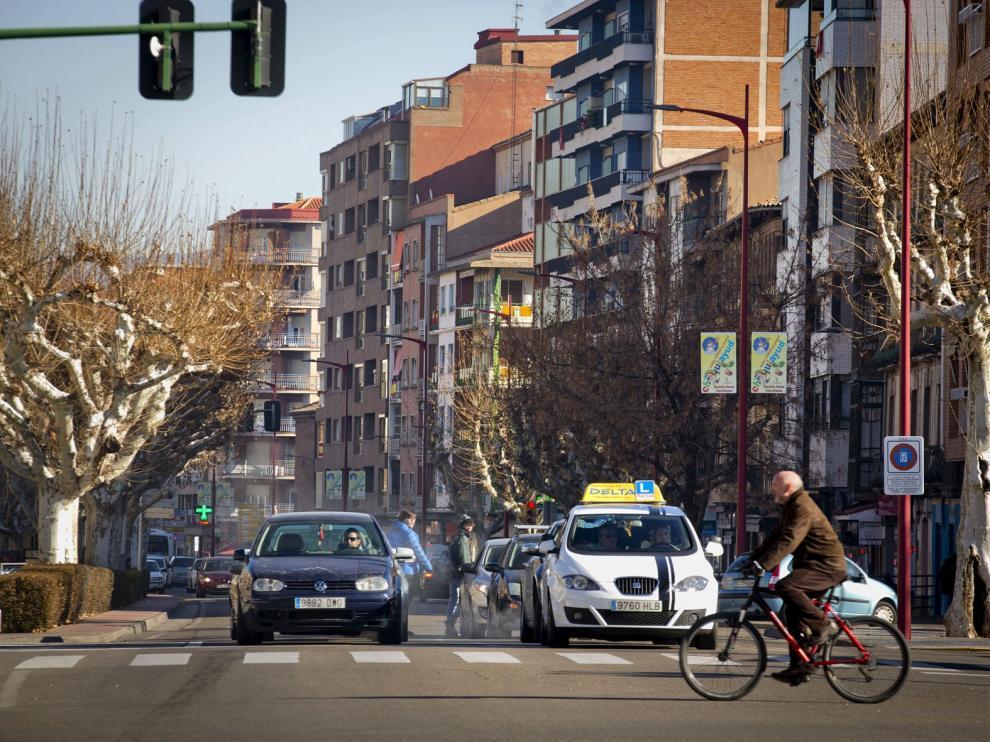 Una céntrica calle de la localidad de Calatayud