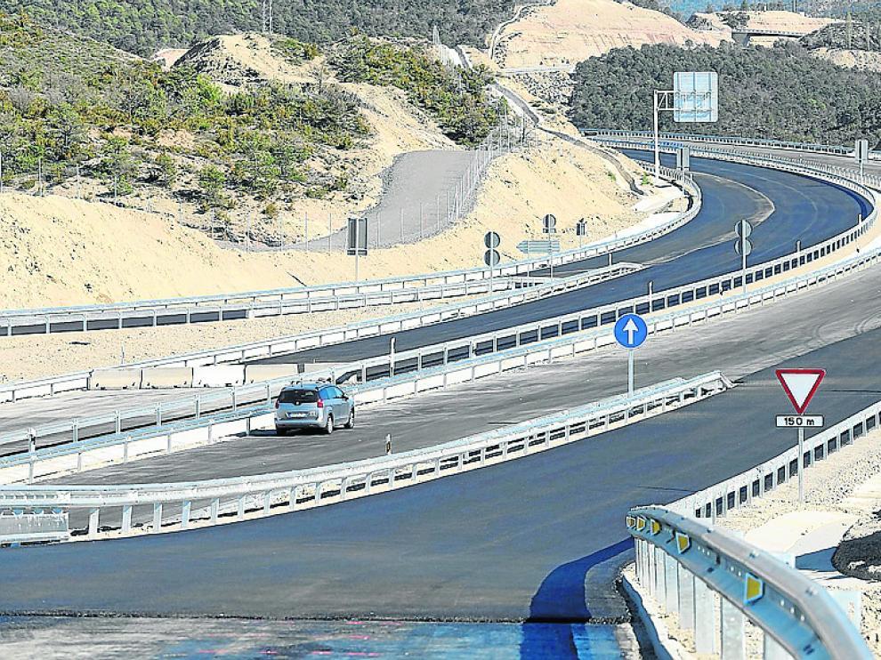 Cuatro de los 12 km del Caldearenas-Lanave, en la zona baja de Monrepós, están a punto de abrirse.