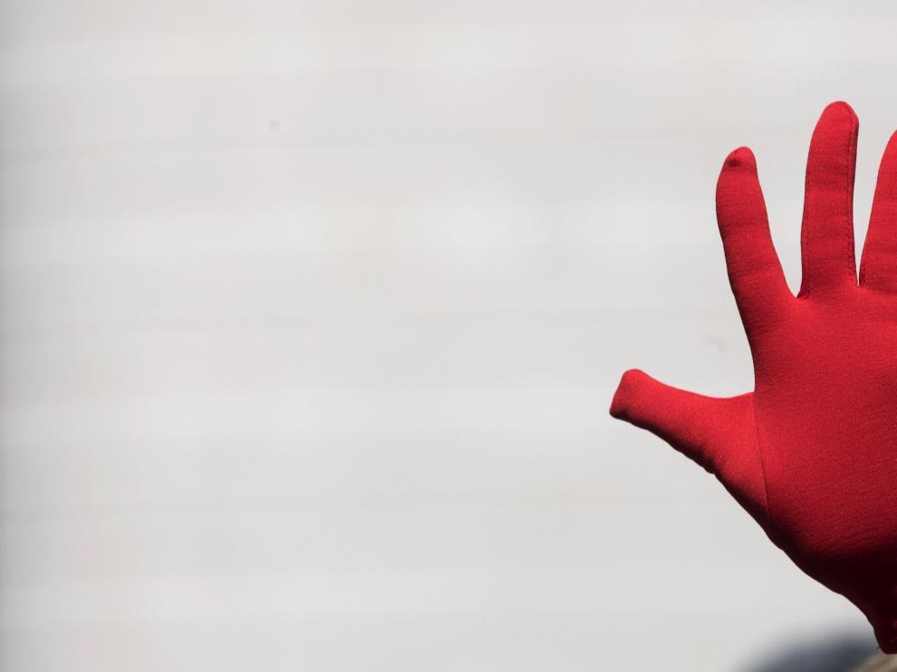 Las manos rojas se han convertido en el símbolo contra las agresiones sexistas