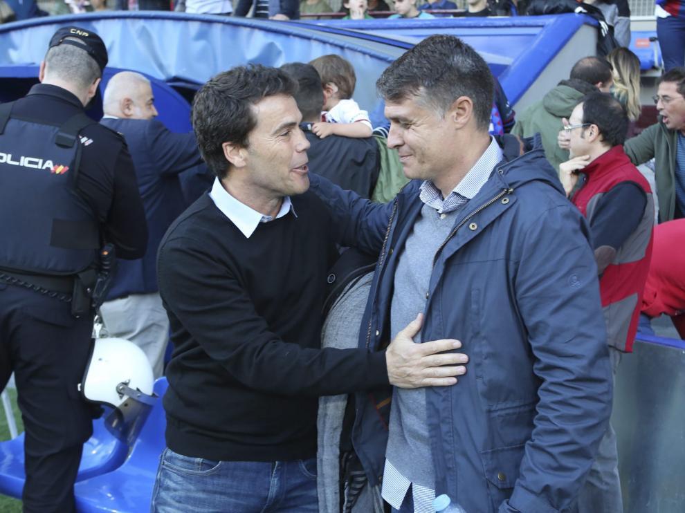 Rubi y Pedro Morilla, este sábado en El Alcoraz.