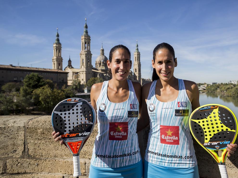 Mapi y Majo Sánchez Alayeto, protagonistas del Estrella Damm Zaragoza Open.