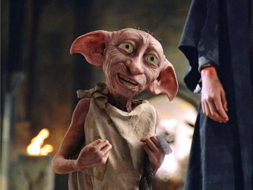 Imagen de Dobby en los filmes de Harry Potter