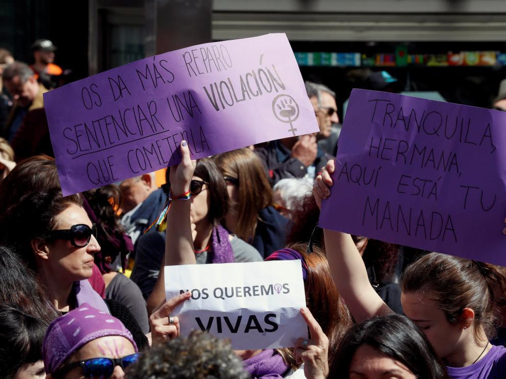 Concentración en Madrid contra la sentencia a La Manada.